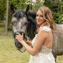 trouwfoto paarden